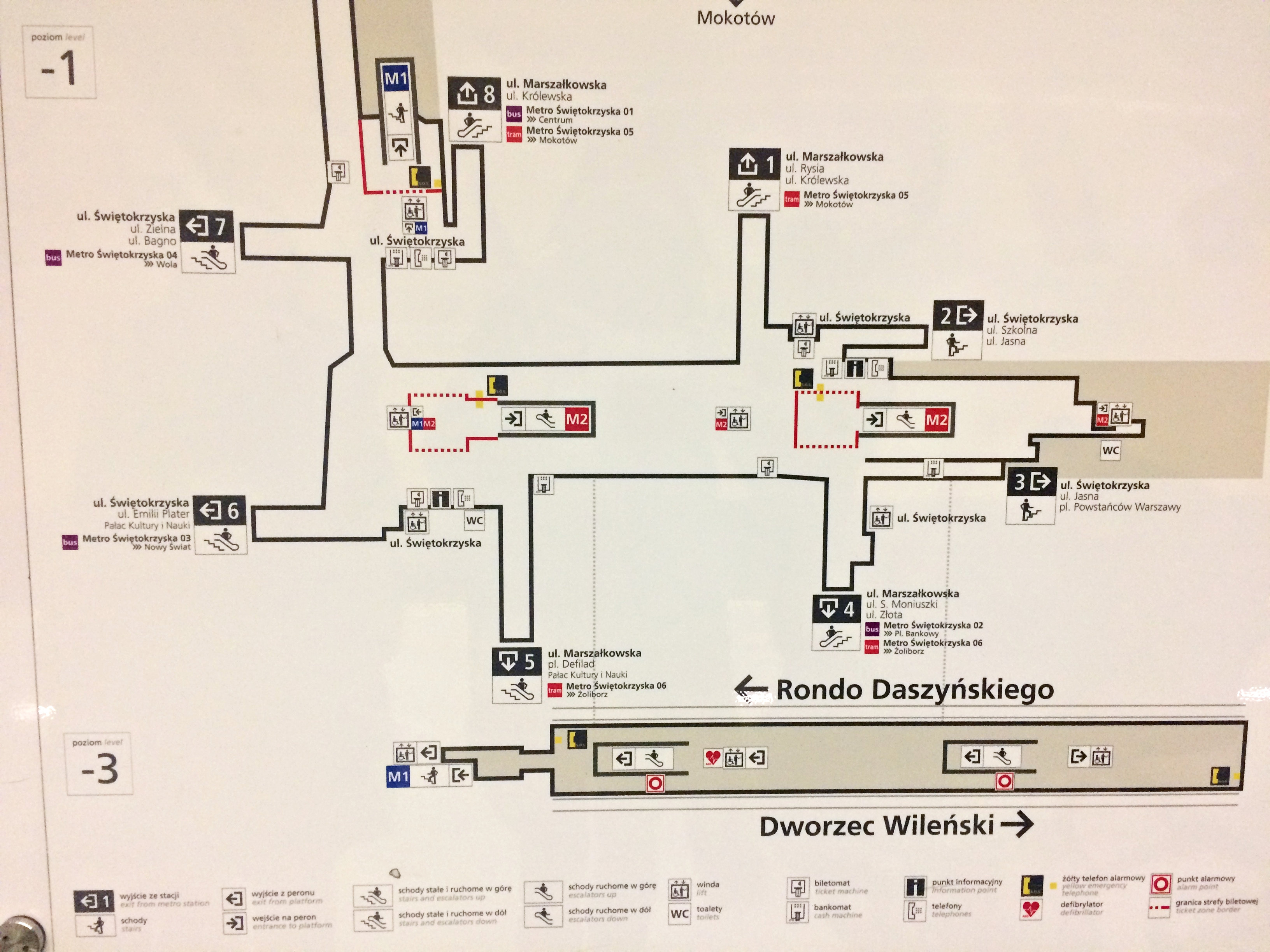 mapa stacji metro warszawskie