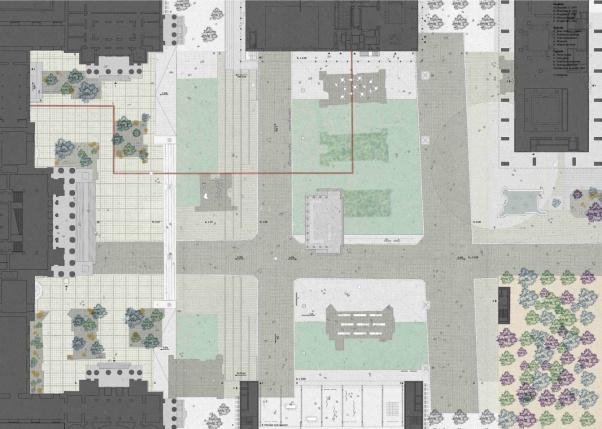 plac centralny koncepcja
